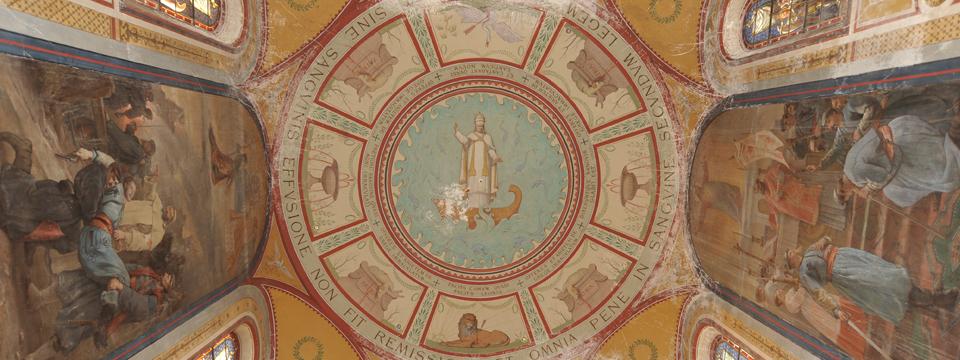 Le plafond de la chapelle Mortuaire
